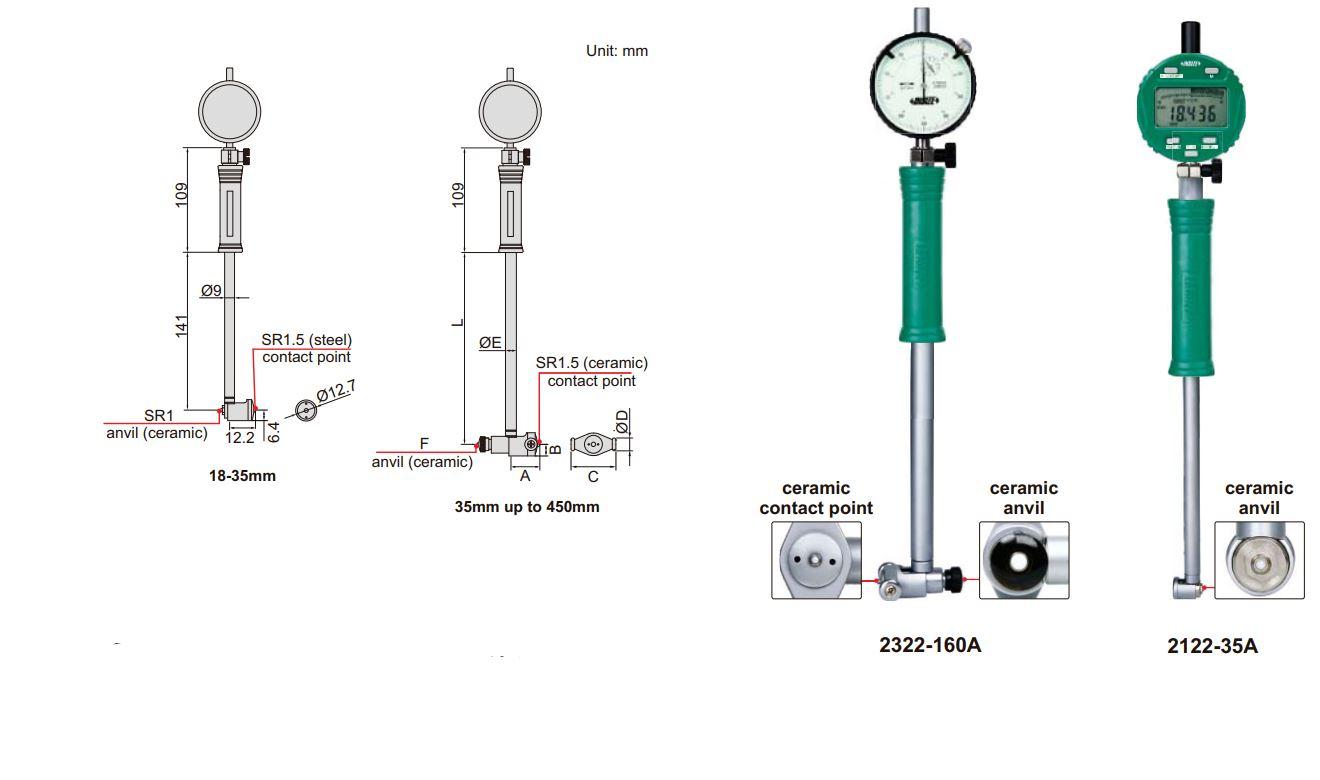 Đồng hồ đo lỗ Insize