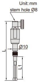 Đồng hồ đo lỗ kích thước nhỏ Insize 2426