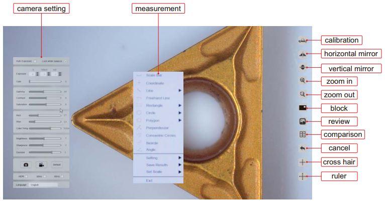 Máy ảnh kỹ thuật số cho kính hiển vi Insize ISM-CM20