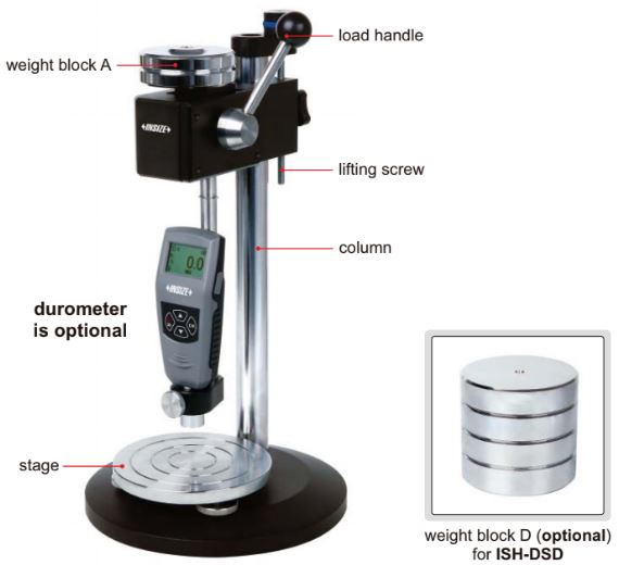 Đế gá cho máy đo độ cứng Shore Insize ISH-DS-STANDA