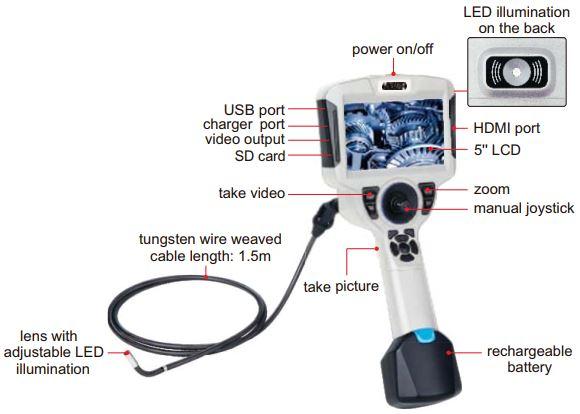 Thiết bị nội soi độ phân giải cao 360° Insize ISV-MS