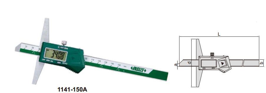 Thước đo sâu điện tử (loại tiêu chuẩn, không chống nước) Insize 1141