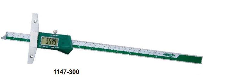 Thước đo sâu điện tử có thể gắn thêm đế dài Insize 1147