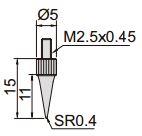 Đồng hồ đo độ sâu Insize 2343