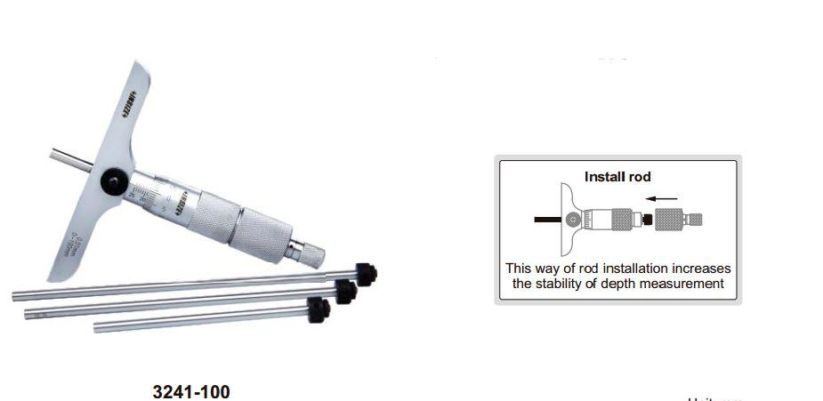 Panme đo sâu cơ khí Insize 3241