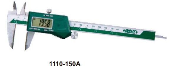 Thước kẹp điện tử mỏ Cacbua Insize (Không chống nước) 1110