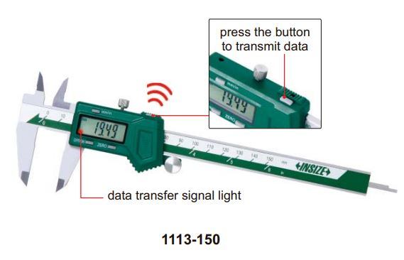 Thước kẹp điện tử kết nối không dây Insize (không chống nước)