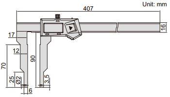 Thước kẹp điện tử nhiều đầu đo Insize (Không chống nước) 1124-300A