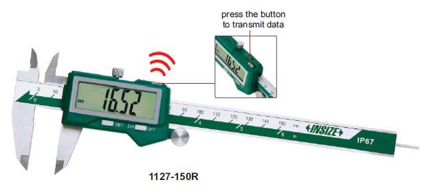Thước kẹp điện tử chống nước (Loại Bluetooth) Insize 1127