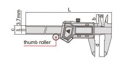 Thước kẹp điện tử Insize cho người thuận tay trái (Không chống nước)