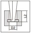 Thước kẹp điện tử đo rãnh Insize (Không chống nước) 1176