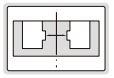 Thước kẹp điện tử đo biên dạng ngoài hẹp Insize (Không chống nước)
