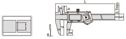 Thước kẹp điện tử mỏ dẹt Insize (Không chống nước) 1188