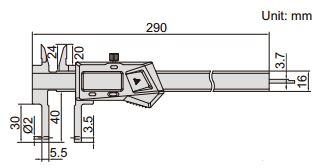 Thước kẹp điện tử nhiều đầu đo Insize (Không chống nước) 1526-200