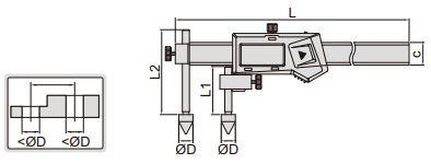 Thước kẹp điện tử đo khoảng cách tâm Insize (Không chống nước) 1192