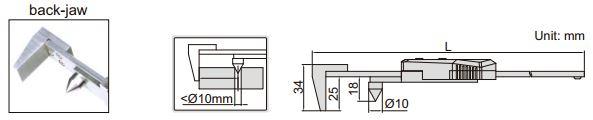 Thước kẹp điện tử đo bán kính Insize (Không chống nước) 1524