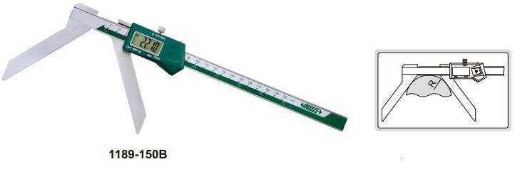 Thước kẹp điện tử đo bán kính cung tròn Insize (Không chống nước)