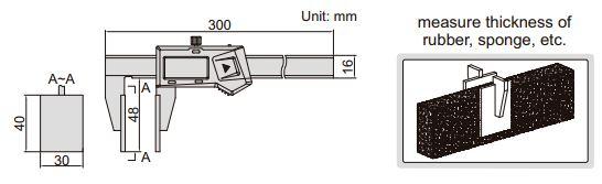 Thước kẹp điện tử mỏ phẳng Insize (Không chống nước) 1172