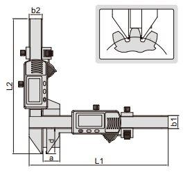 Thước kẹp điện tử đo bánh răng Insize (Không chống nước) 1181