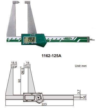 Thước kẹp điện tử đo độ dày phanh đĩa Insize (Không chống nước) 1162