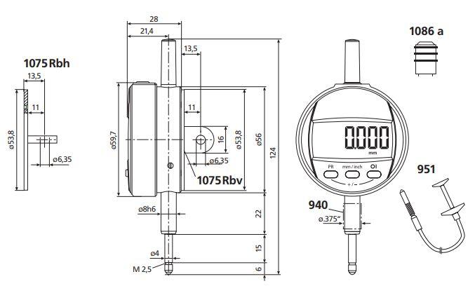 Đồng hồ so điện tử MarCator 1075 R