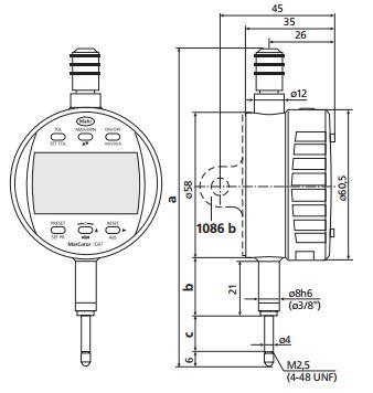 Đồng hồ so điện tử MarCator 1087 R