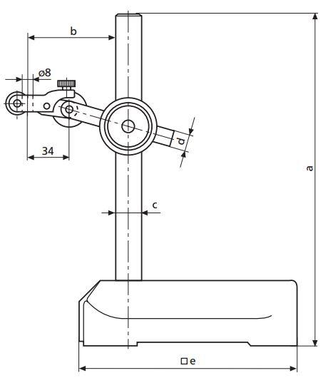 Đế gá đồng hồ so với chân đế tam giác MarStand 815 GN