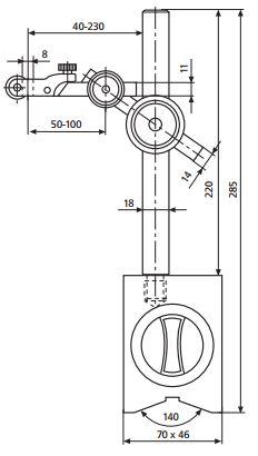 Đế gá đồng hồ so với chân đế từ MarStand 815 MA