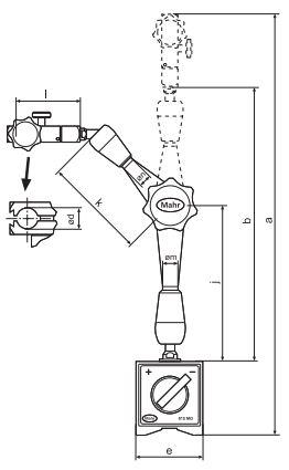 Đế gá đồng hồ so với chân đế từ MarStand 815 MG