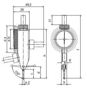 Đồng hồ so chân gập MarTest 800 SGE