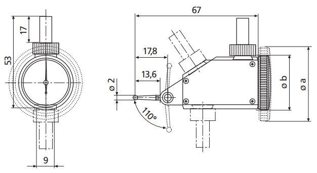 Đồng hồ so chân gập MarTest 800 VGM
