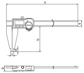 Thước kẹp điện tử MarCAl 18EWR không có mỏ đo trong