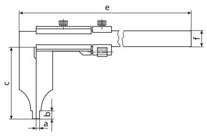 Thước kẹp cơ khí MarCal 18 N có vít chỉnh tinh
