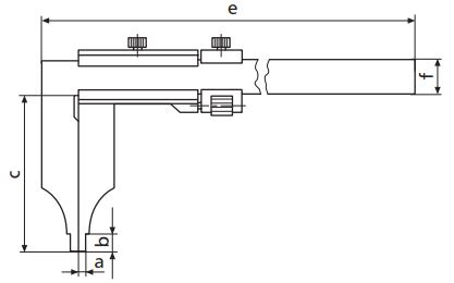 Thước kẹp cơ khí MarCal 18 N không có vít chỉnh tinh