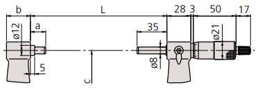 Panme đo ngoài cơ khí Mitutoyo 103