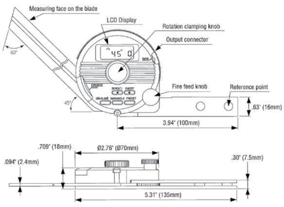 Thước đo góc điện tử vạn năng Mitutoyo 187_DUP