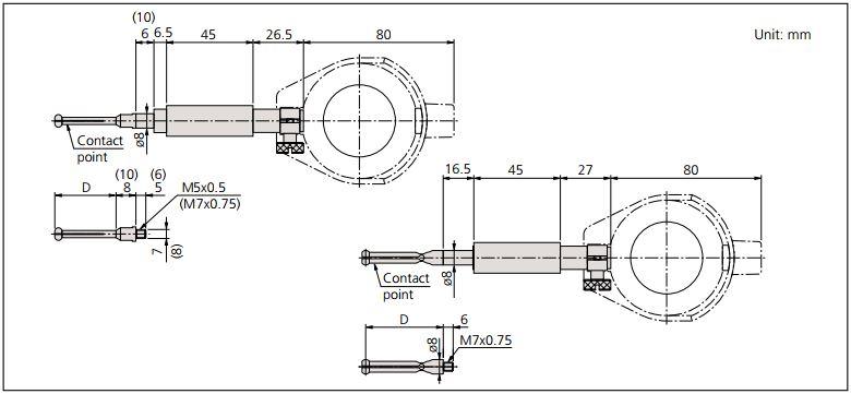Dụng cụ đo lỗ Mitutoyo