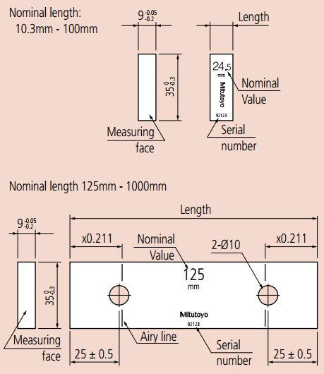 Khối mẫu chuẩn Mitutoyo (đơn chiếc_hình chữ nhật)