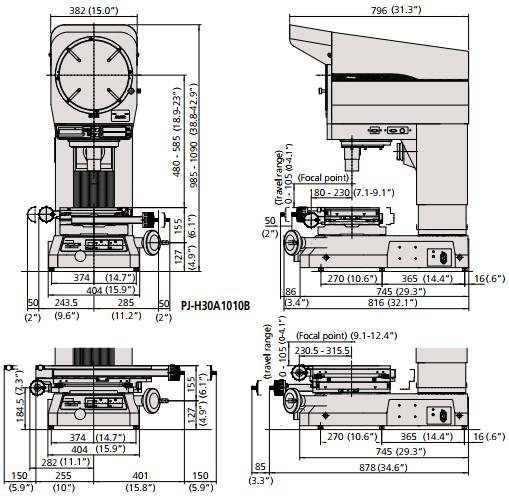 Máy chiếu biên dạng Mitutoyo PJ-H30
