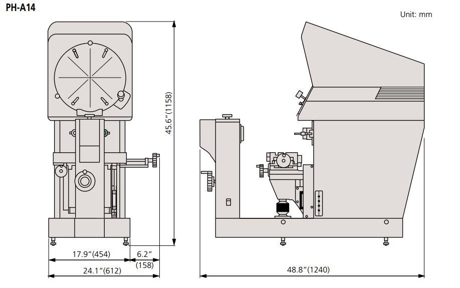 Máy chiếu biên dạng Mitutoyo PH-A14