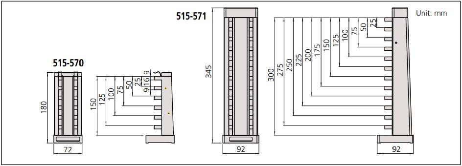 Khối chuẩn panme đo sâu Mitutoyo Series 515