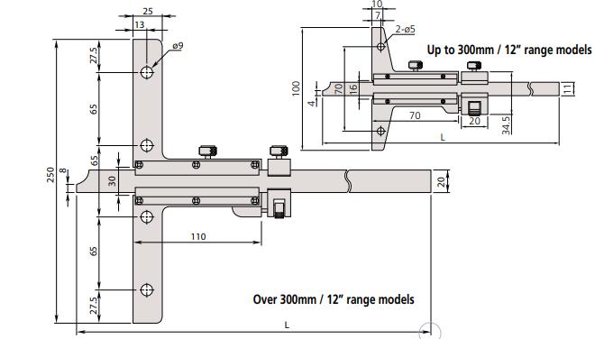 Thước đo sâu cơ khí Mitutoyo Series 527
