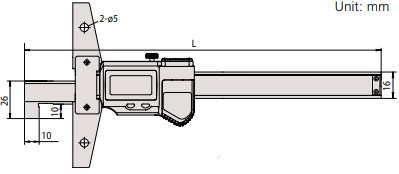Thước đo sâu điện tử loại đầu móc ABSOLUTE Mitutoyo Series 571
