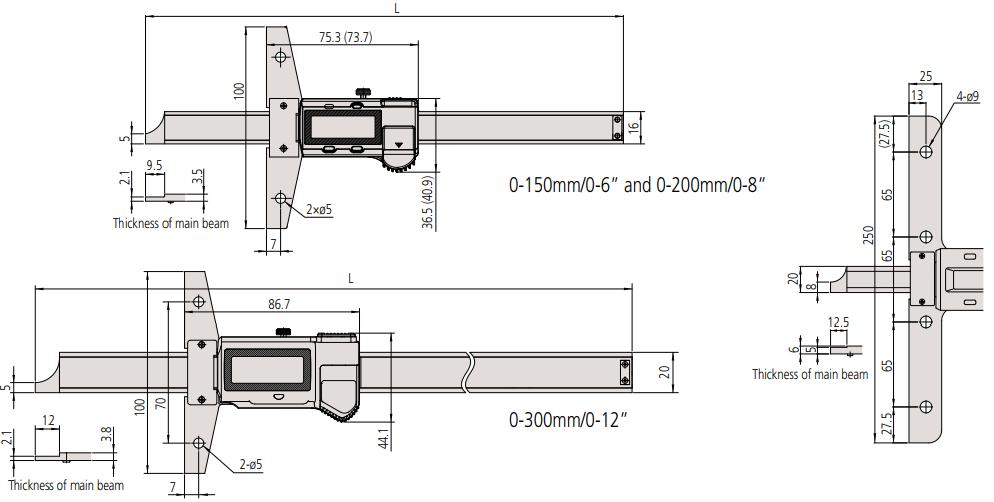 Thước đo sâu điện tử ABSOLUTE Mitutoyo Series 571