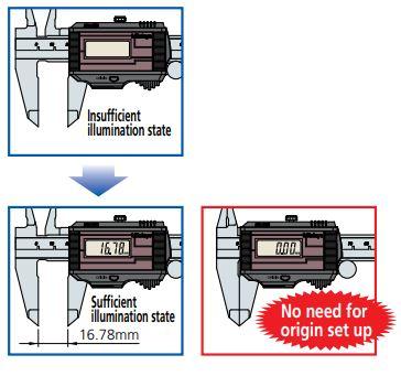 Thước kẹp điện tử Mitutoyo năng lượng mặt trời 500