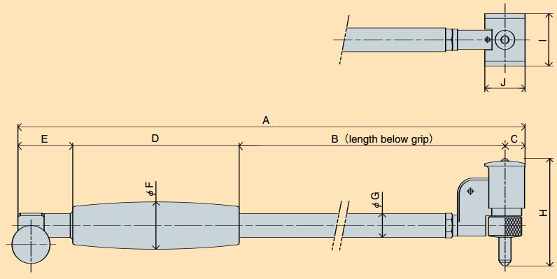 Đồng hồ đo lỗ loại chân ngắn Peacock S Series