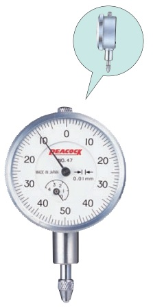 Đồng hồ so cơ khí loại thu nhỏ Peacock